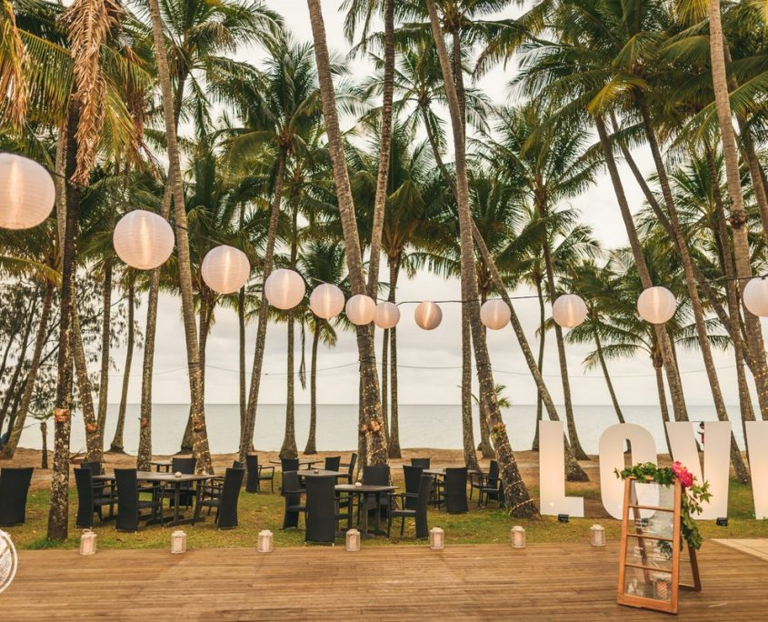 PAlm Cove wedding reception
